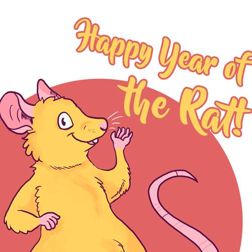 Chinese new year rat 2020 mouse cute ratte