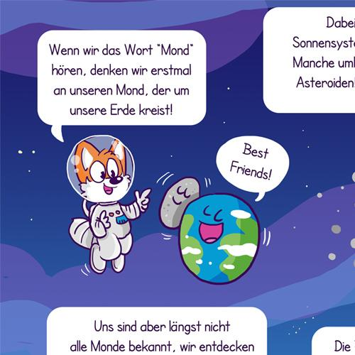 Monde Astrophysik moon fuchs fox science