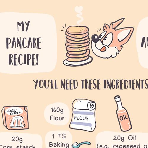Pancake vegan recipe